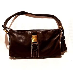 THE SAK LEATHER BAGETTE SHOULDER BAG